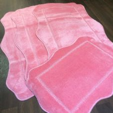 ROMANY WASHABLES NEW 2020 DESIGNS FULL SETS OF 4 BRIGHT PINK MATS/RUGS